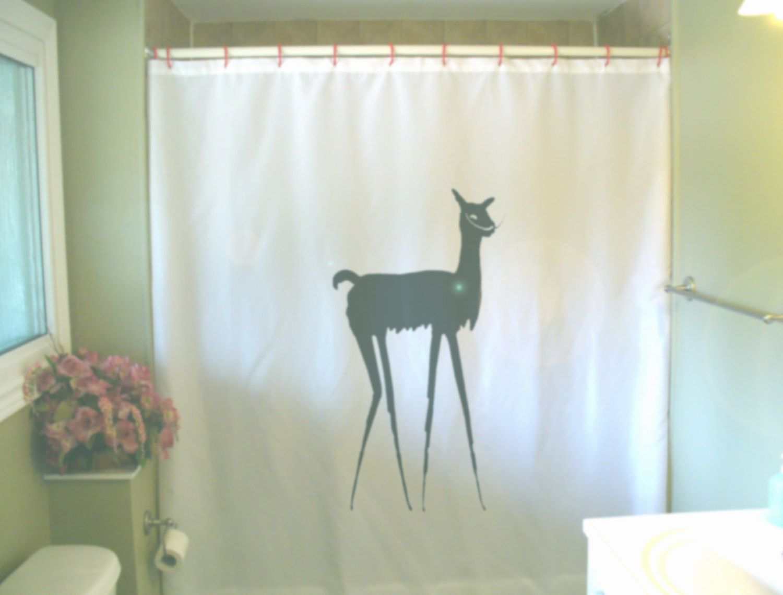 Dali Llama Shower Curtain Pun Surreal Salvador Artist Spain Painter Humor Bathroom Decor Kids Bath Curtains