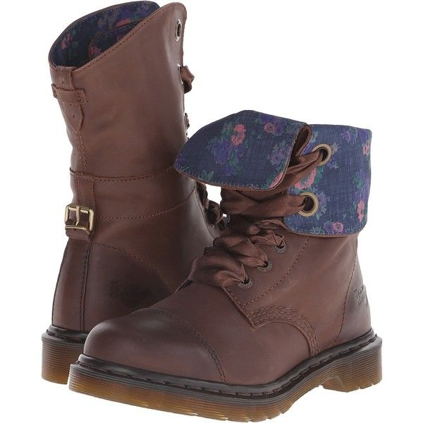 Dr. Martens Aimilie Women's Boots, Brown ($70) ❤ liked on