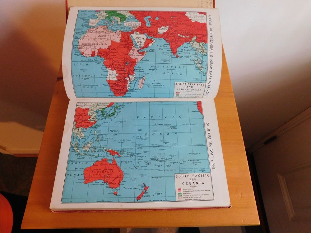 Vintage 1943 rand mcnally ready reference atlas of the world wwii vintage 1943 rand mcnally ready reference atlas of the world wwii war zone maps ebay gumiabroncs Images