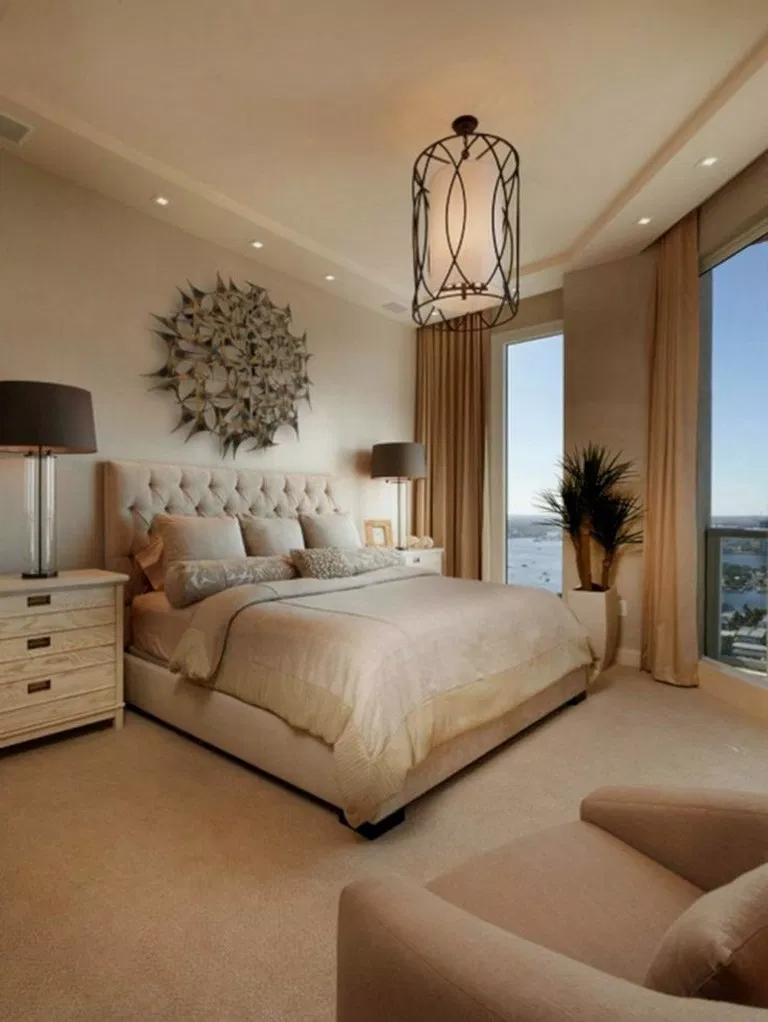 34 Relaxing Master Bedroom Decorating Ideas Masterbedroom Bedroomdesign Bedroomideas Gorgeous Elegant Master Bedroom Bedroom Interior Luxurious Bedrooms