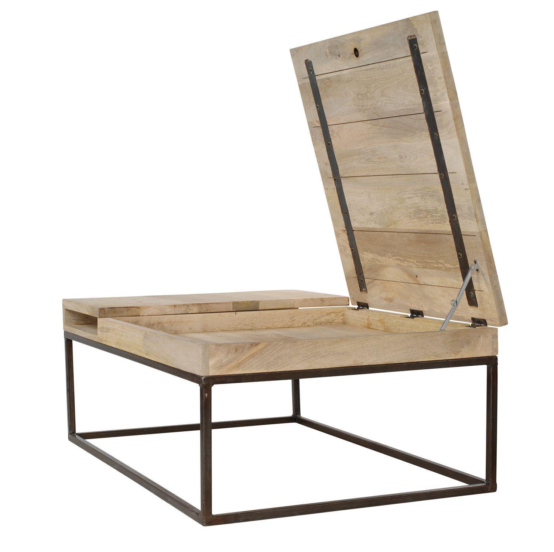 table basse industrielle table bois metal double zero. Black Bedroom Furniture Sets. Home Design Ideas