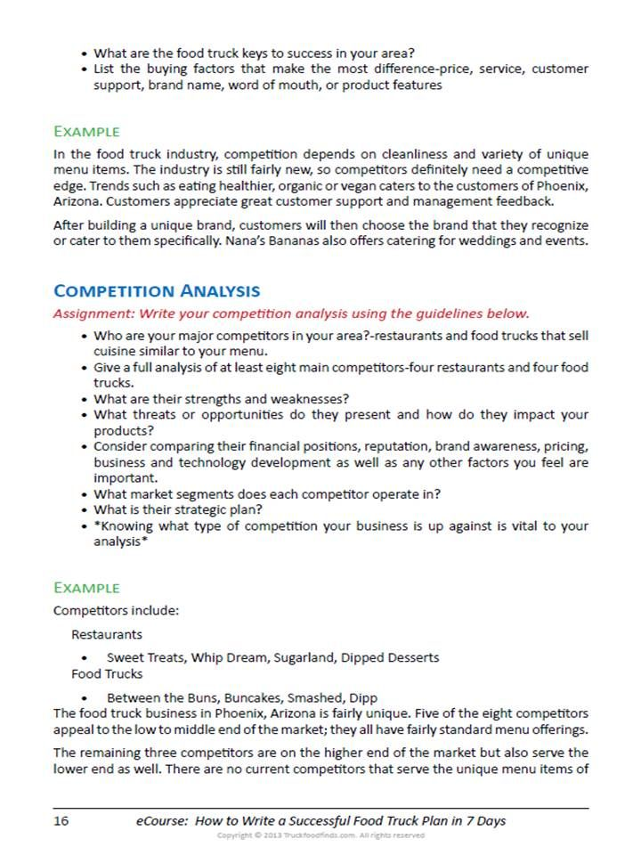How to write a successful food truck business plan in 7 days sample how to write a successful food truck business plan in 7 days sample page 1 wajeb Images