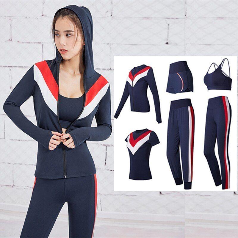 Women Ladies Sport Yoga Set Gym Running Sportwear Suit Fitness Clothing Workout