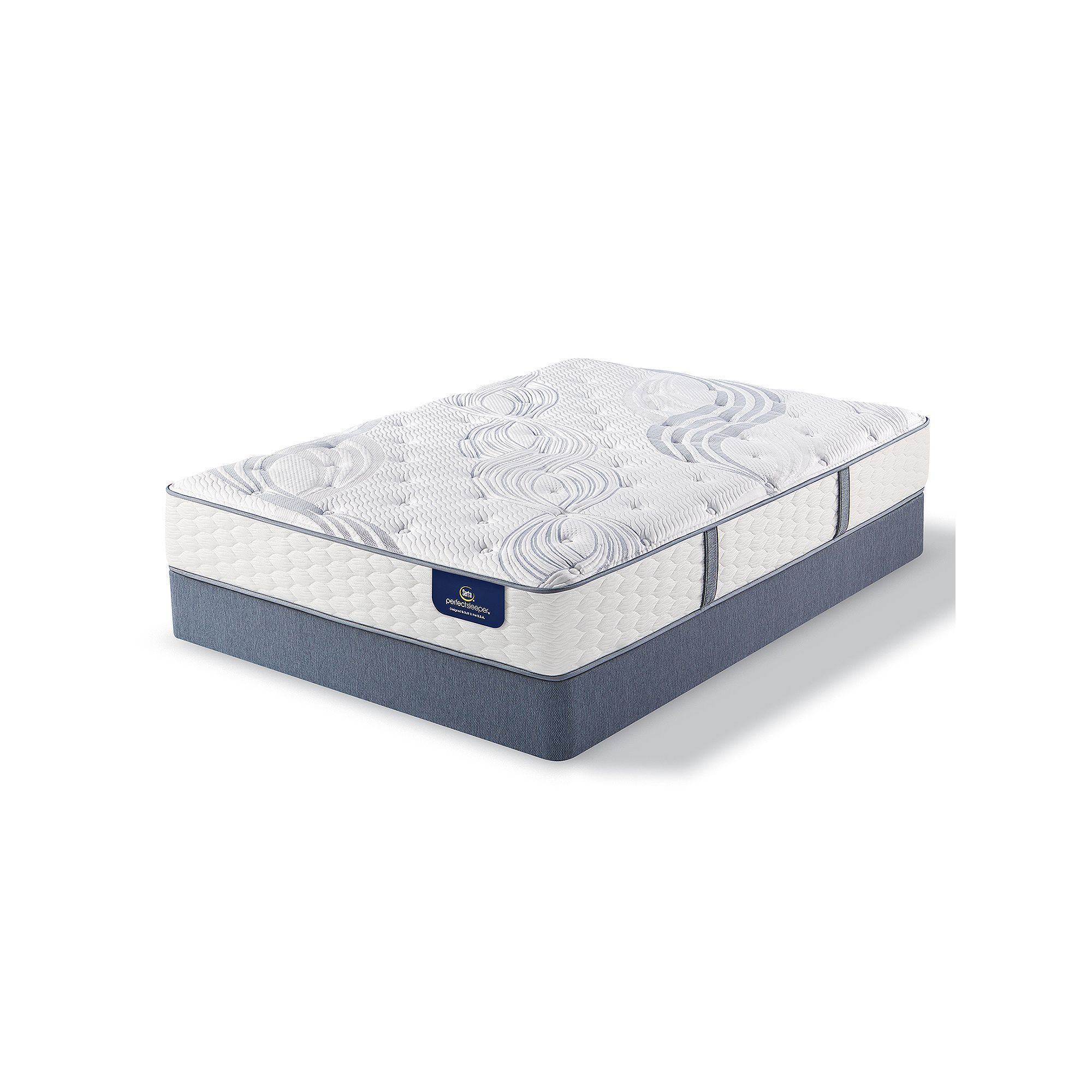 Serta Dalston Luxury Firm Mattress & Box Spring Set White
