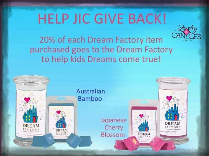 Www.jewelryincandles.com/store/amysdelights . Want to help!! buy one of these candles or tarts and jewelryincandles gives 20%  to  dream factory.help bring a smile to a child in need today.