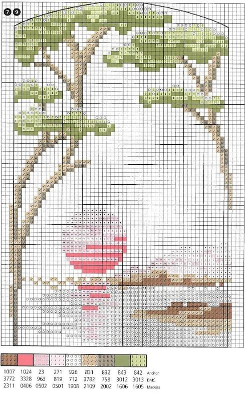 Маленькие схемы для вышивки цетов - Цветы крестиком 76