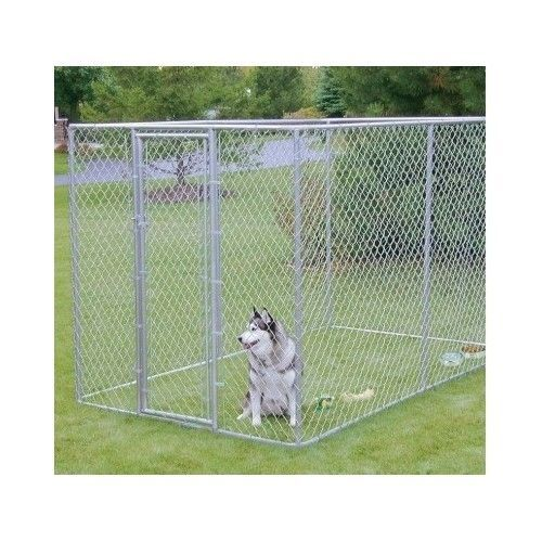 Outdoor Dog Kennel Gate Large Chain Link Fence Pet Enclosure Run House Home 6x10 Dog Kennel Outdoor Wire Dog Kennel Dog Kennel