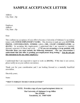 007 Law School Acceptance Letter A list of additional