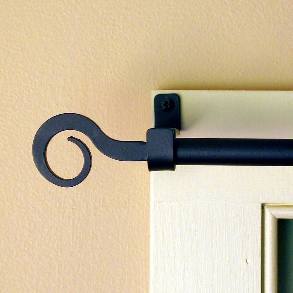 Curl Wrought Iron Curtain Rod W Hardware Med Piper Classics