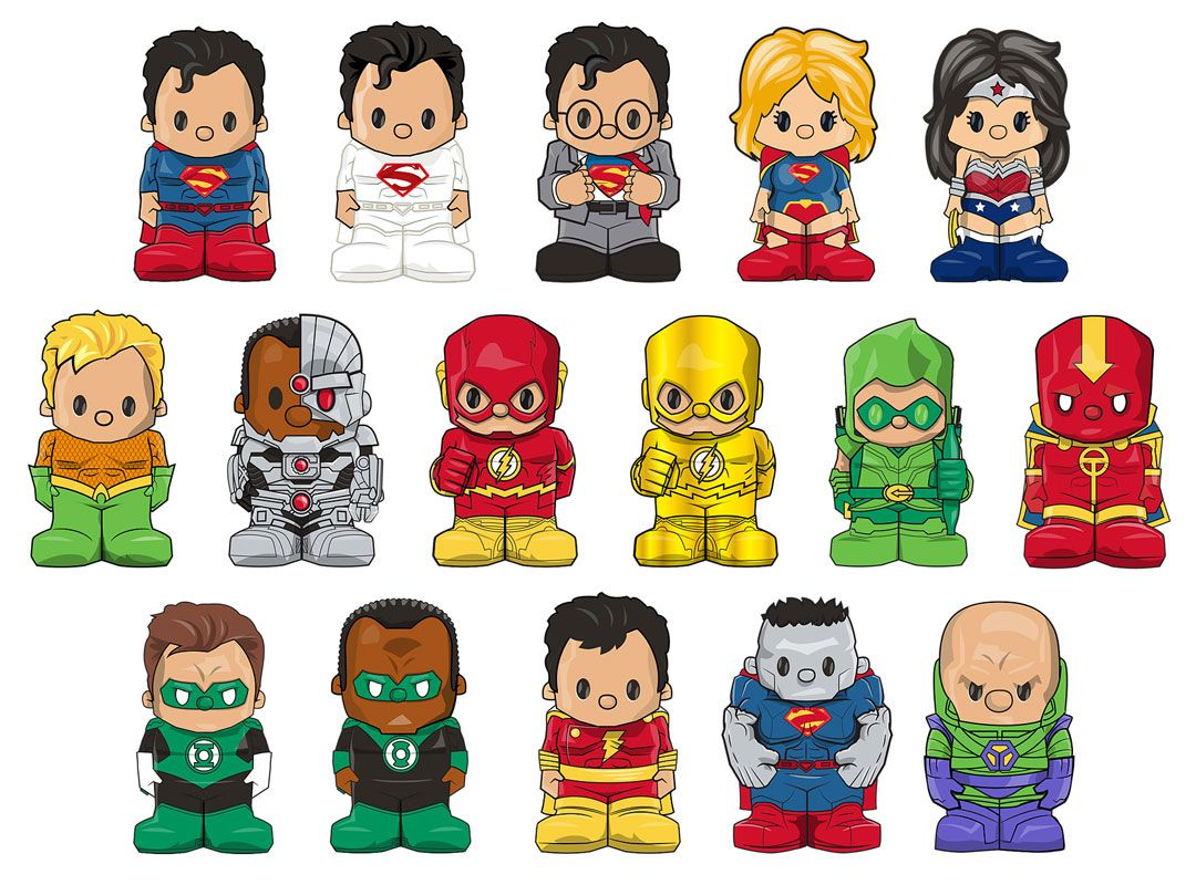 OOSHIES Pencil Topper DC Comics Series One Clean Wonder Woman Figure Collection