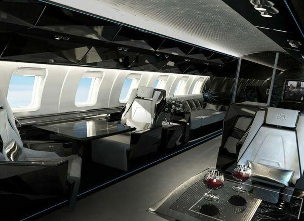 le jet priv de luxe en 50 photos sean house private jet private jet interior et luxury. Black Bedroom Furniture Sets. Home Design Ideas