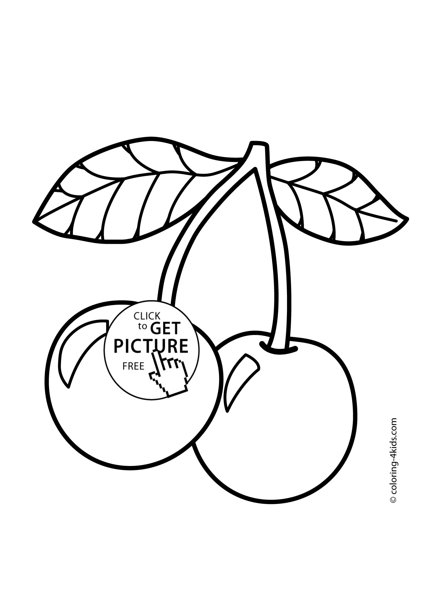 Cherry Coloring Pages Collection