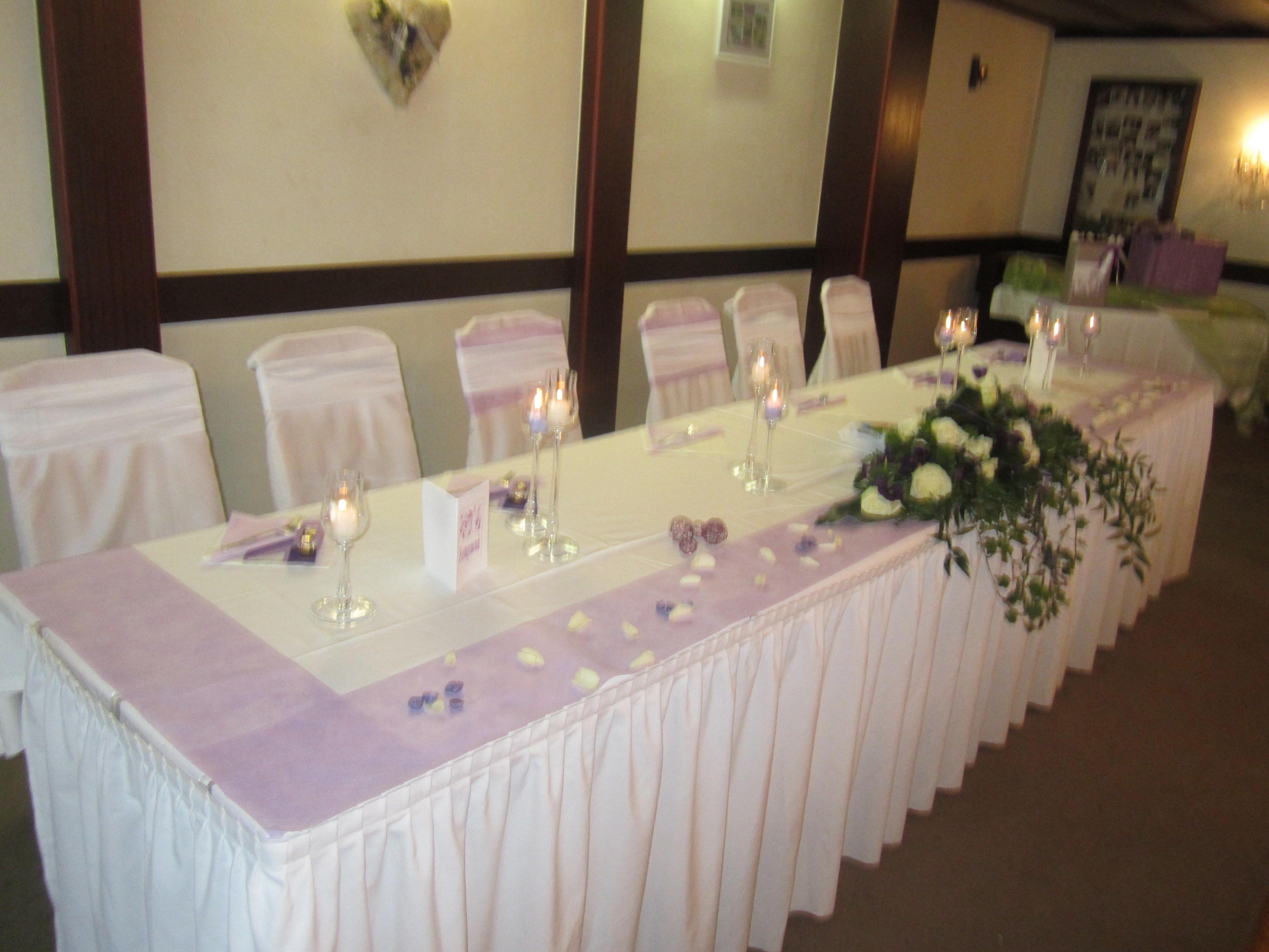 Hochzeit Brauttisch Tischdeko Pinterest