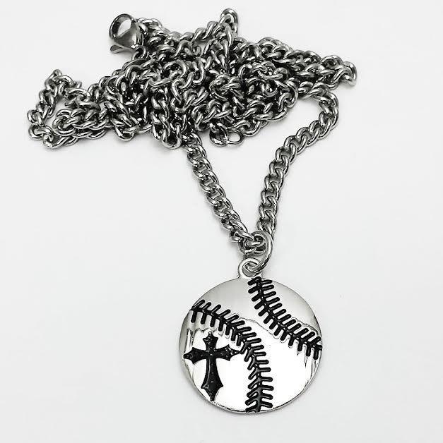 Shields of strength baseball pendant rhodium plated necklace shields of strength baseball pendant rhodium plated necklace phil 413 aloadofball Gallery