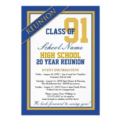 Classy Formal High School Reunion Card | School reunion, High school ...