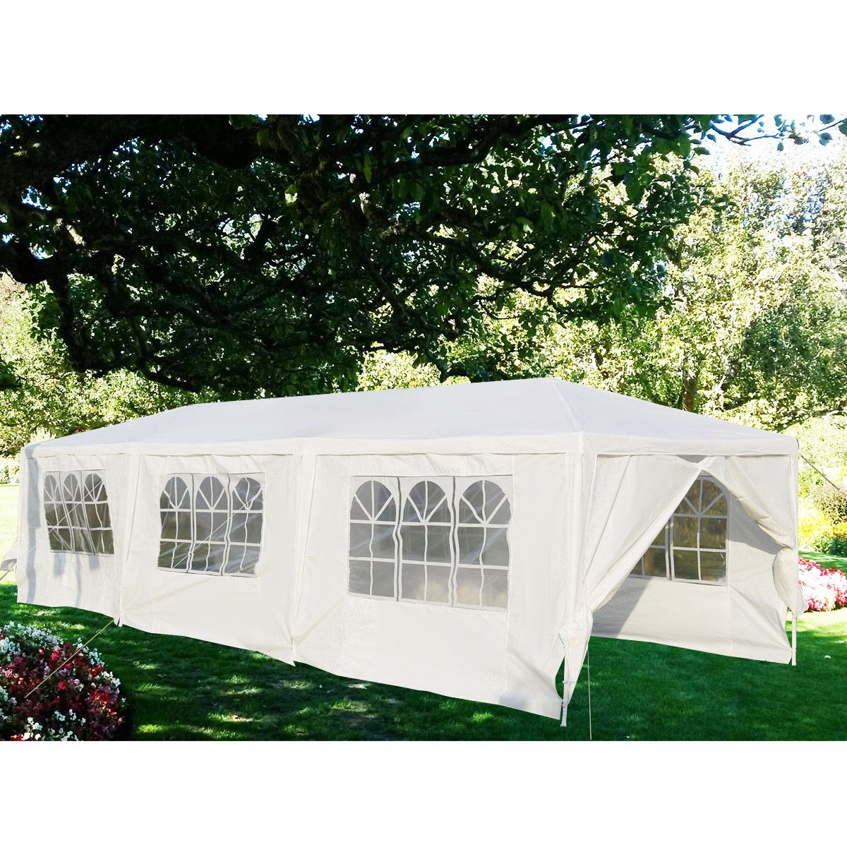 Gymax White Wedding Tent 10 X30 Outdoor Party Canopy Events Walmart Com White Canopy Tent Canopy Tent Outdoor Canopy Outdoor