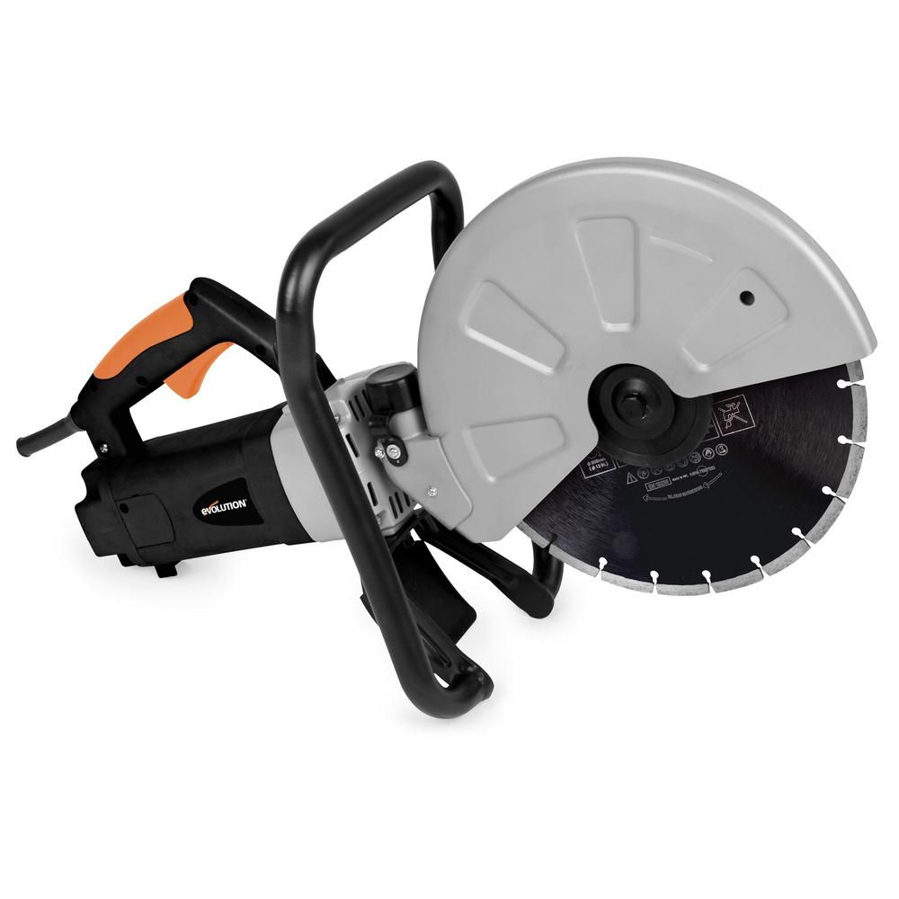 Evolution Power Tools 15 Amp 12 In Corded Portable Concrete Saw In 2020 Concrete Saw Concrete Stone Concrete