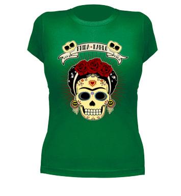 34c7f9f2ee100 Camiseta CALAVERA MEXICANA FRIDA KAHLO