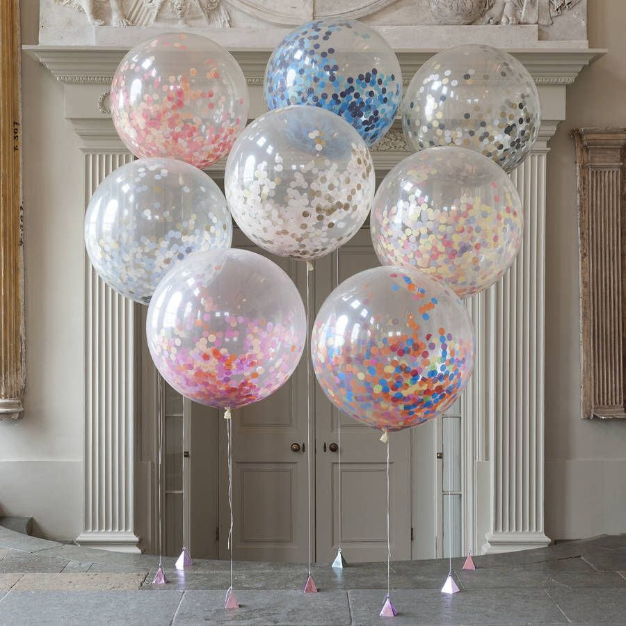 Giant Rainbow Bright Confetti Filled Balloon Confetti