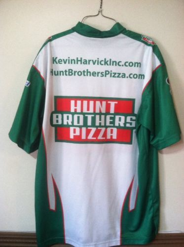 5b755298f39 Kevin Harvick Hunt Brothers Pizza Race Used Pit Crew Shirt And Hat!!! 2014  Champ