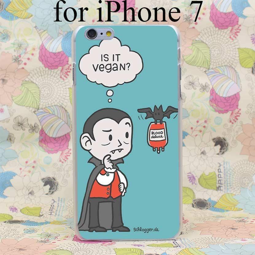 2302T Vegan Vampire Hard Case Cover for iPhone 7 7 Plus 4 4s 5 5s SE 5C 6 6s Plus Skin Back