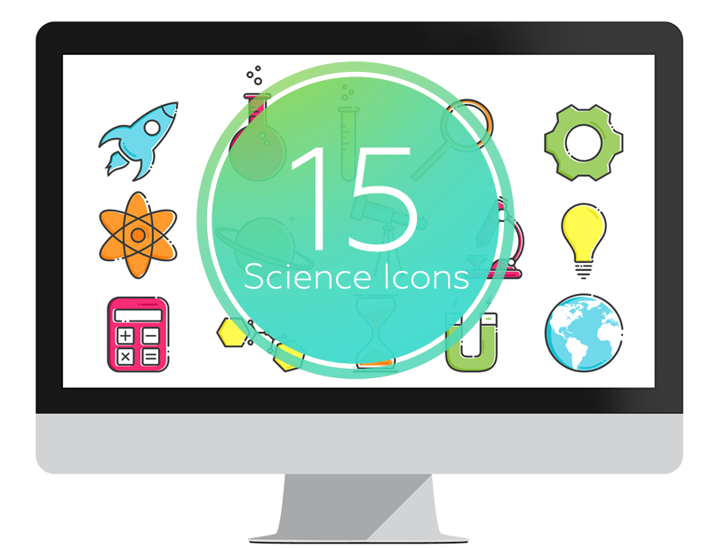 Science Icons set for PowerPoint  Exclusive, 100% editable