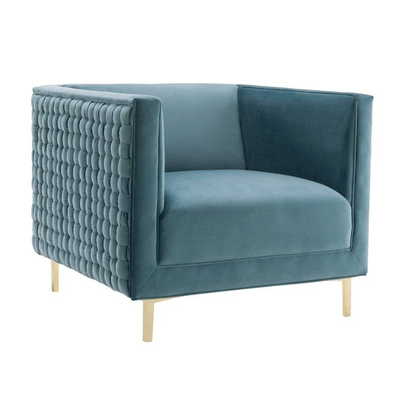 Lovely TOV Furniture Sal Woven Chair Sea Blue TOV A150 Pictures - Luxury modern blue chair Fresh