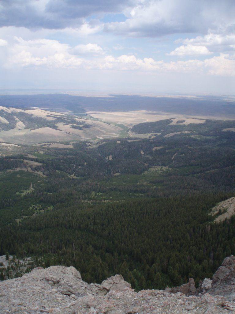 View From the top of Landers Peak Wyoming Range