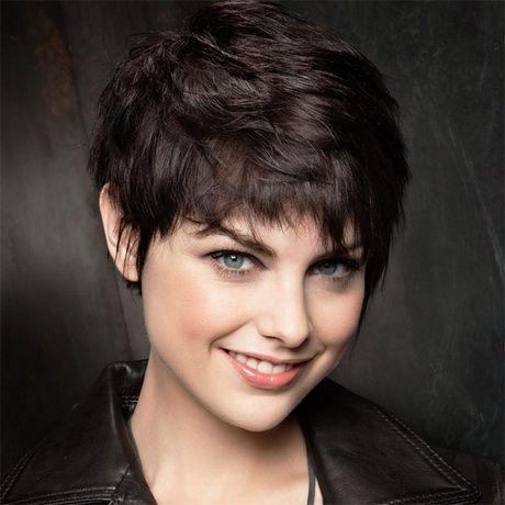Coupe de cheveux courte visage rond … Hairdressing Pixie…