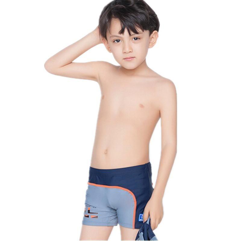 3d731654a4 Children's swimming trunks with swimming cap boys swimwear kids 7- 14Y