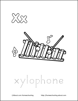 Letter X Coloring Book