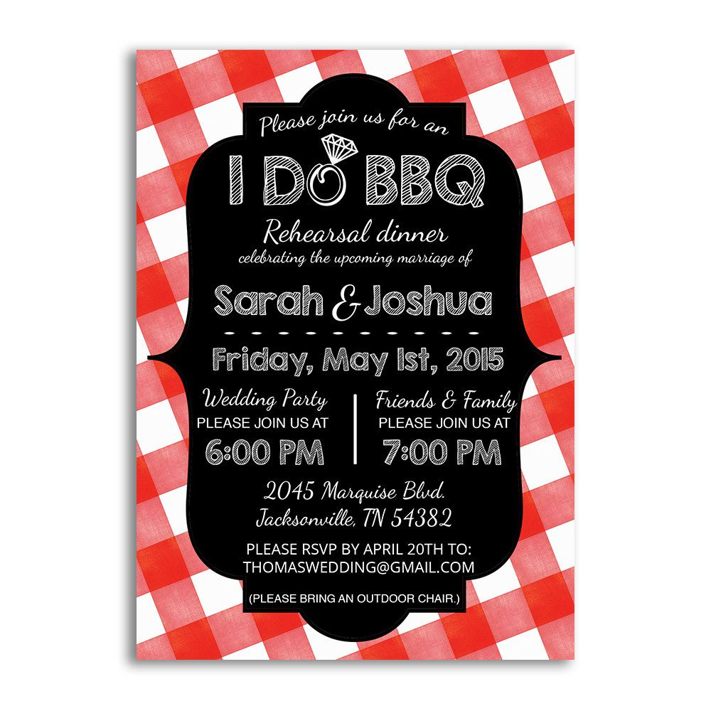 I Do Bbq Invitations For Rehearsal Dinner Or Engagement Party I Do