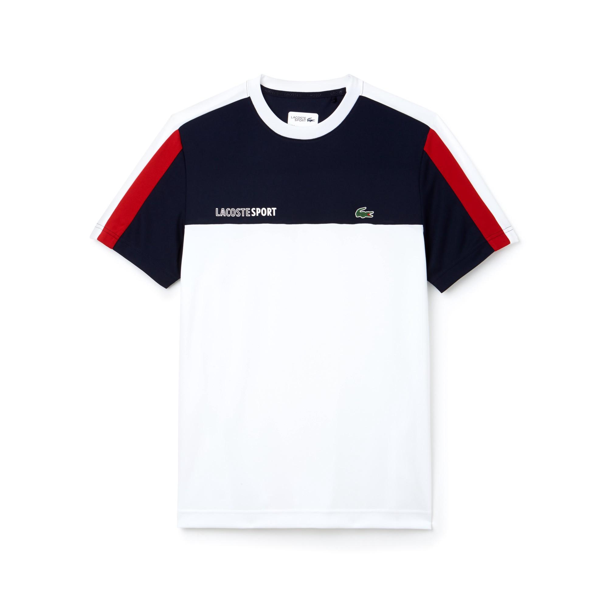Lacoste Men S Sport Crew Neck Colorblock Pique Tennis T Shirt Navy Blue White Lighthous Xxl Green Camisetas Masculinas Camisas Masculinas Tshirt Masculino