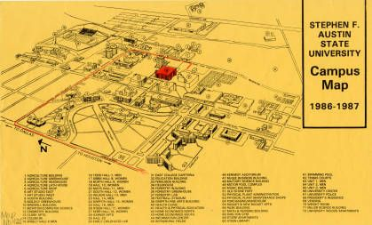 Campus Map East Texas Research Center SFA Pinterest