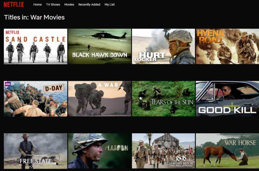 free war movies on netflix
