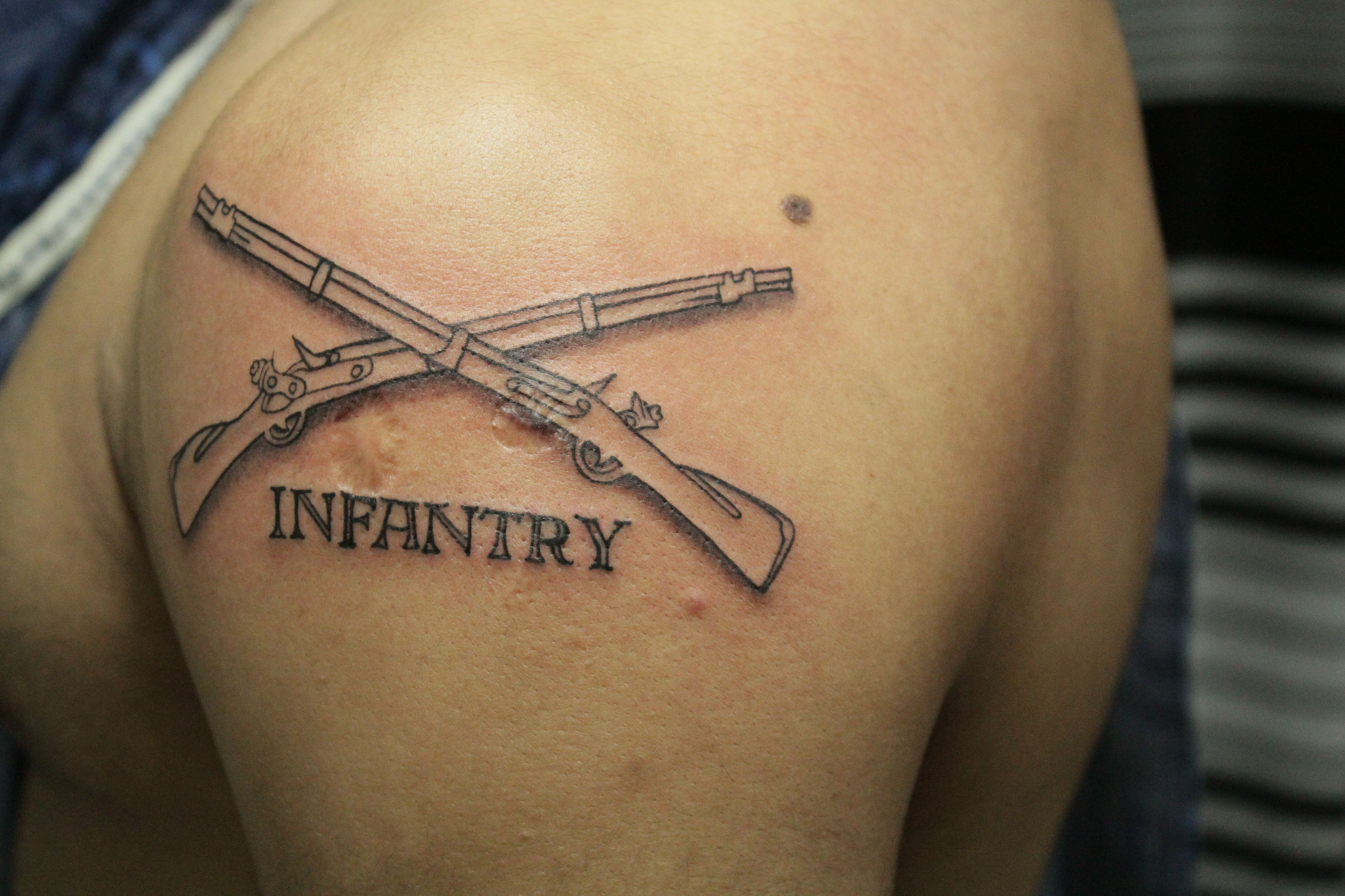 Infantry tattoo tattoos tattoos for guys military