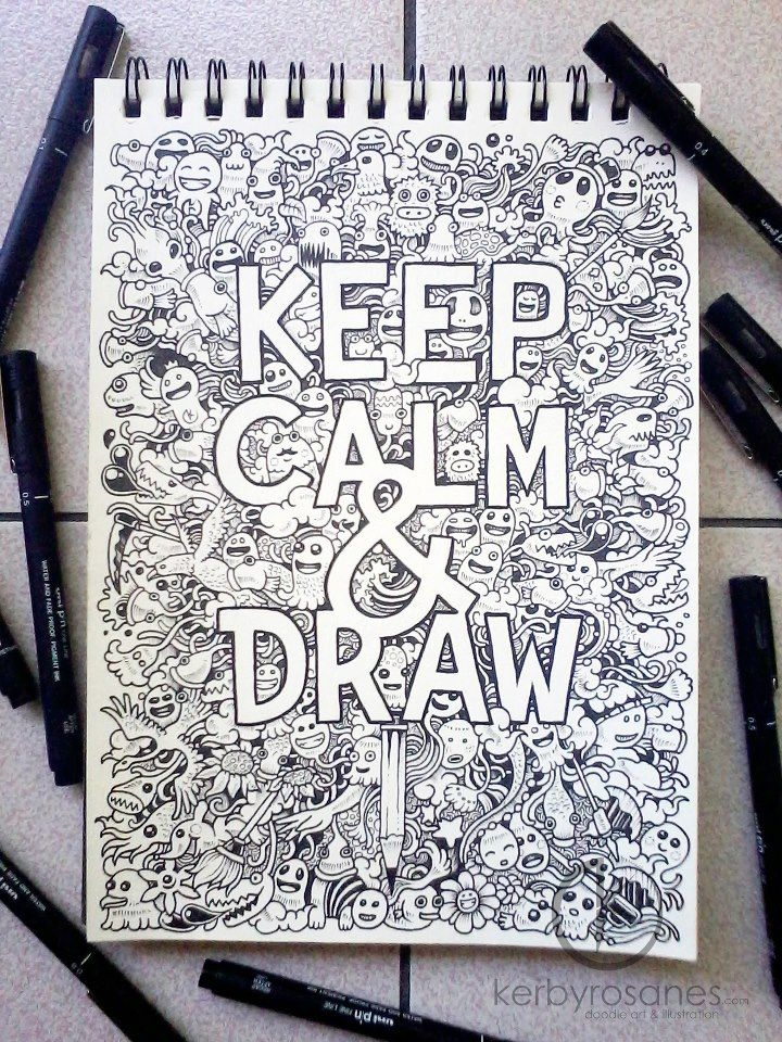 keep calm draw by kerby rosanes