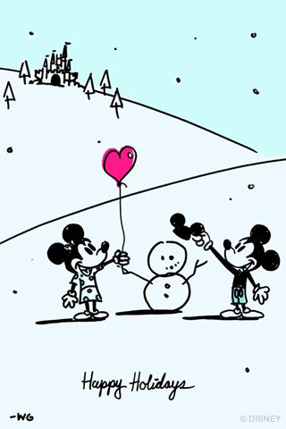 Free disney wallpapers happy holidays from disney artist free disney wallpapers happy holidays from disney artist will gay voltagebd Images