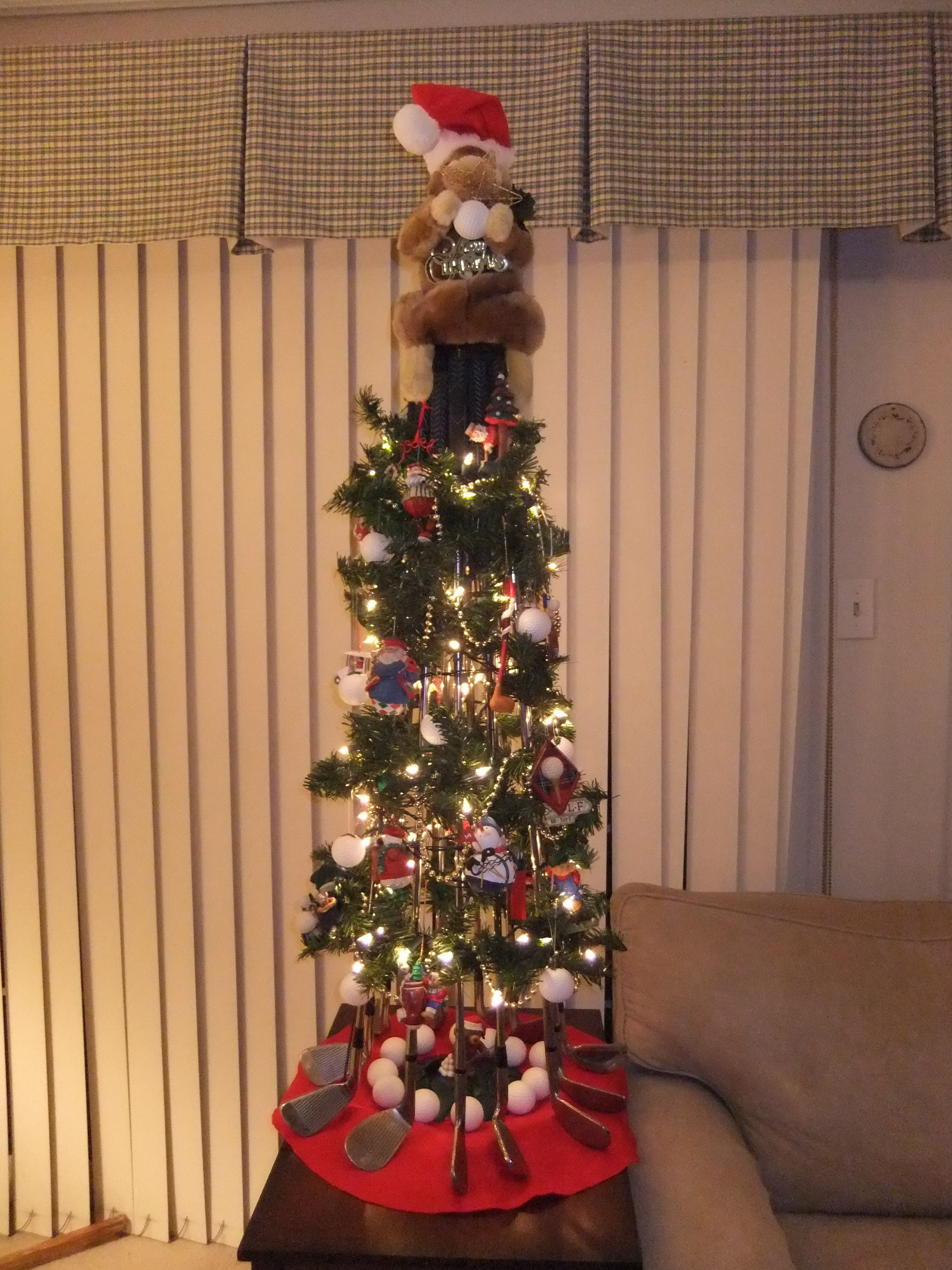 Christmas tree made from golf clubs