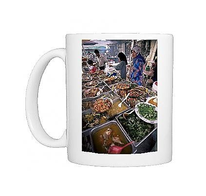 photo mug of food stall at filipino market in kota kinabalu continue to the product