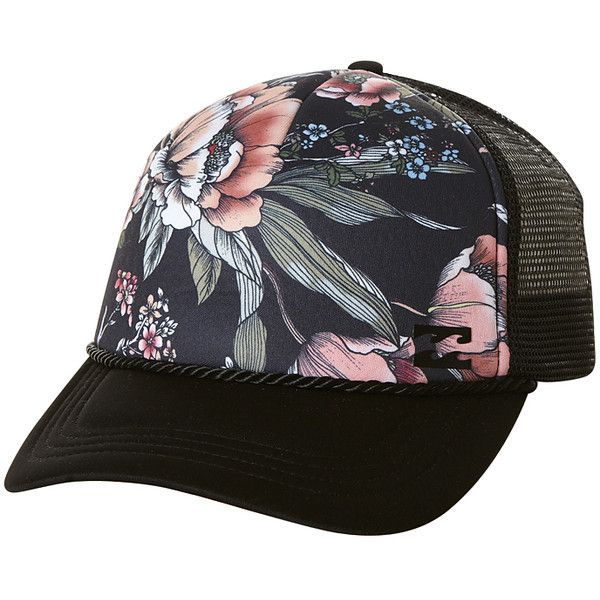 c654d6105 Billabong Gypsy Raven Trucker Cap (20 BGN) ❤ liked on Polyvore ...