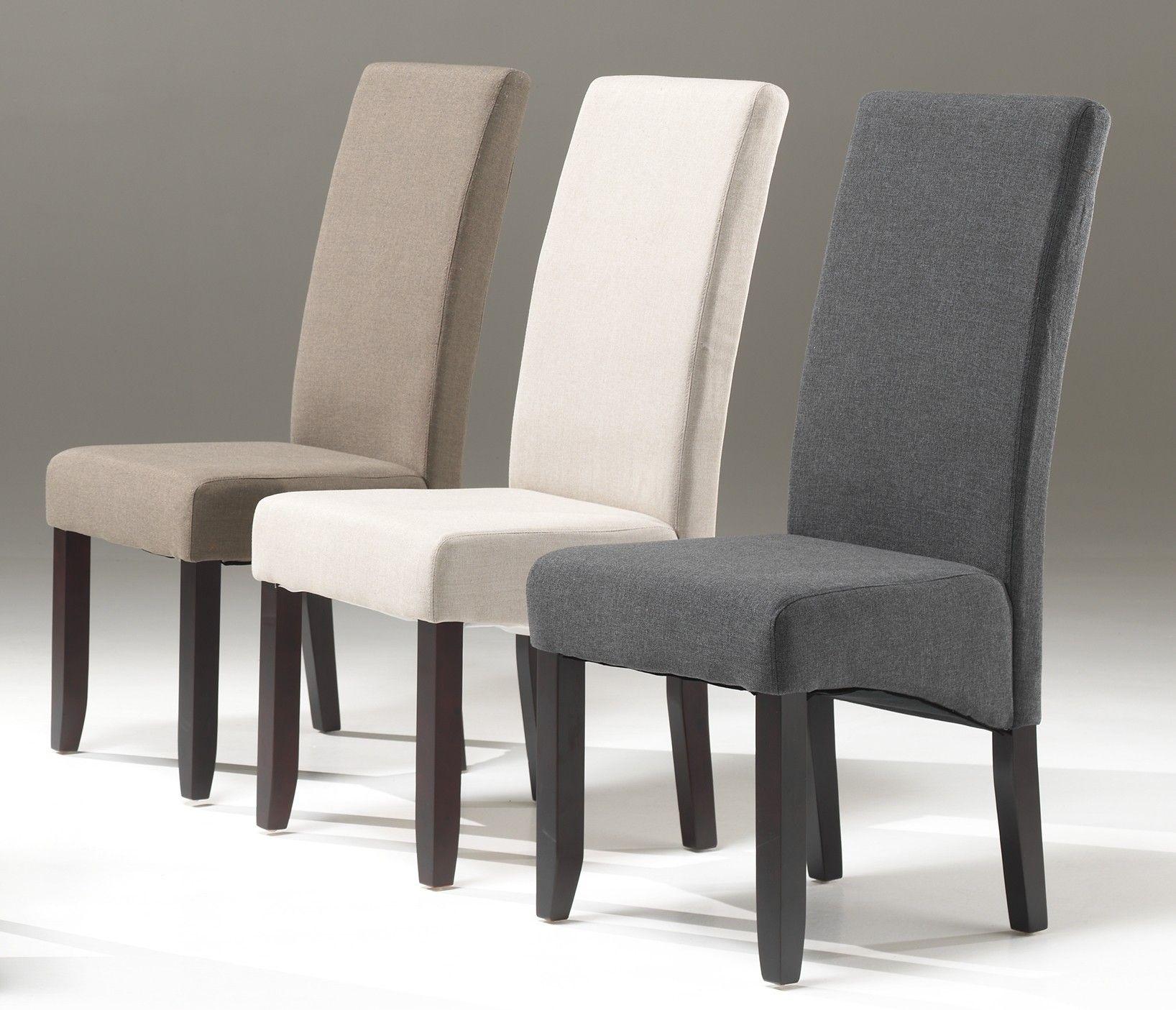 impressionnant chaise salle a manger tissu gris - Chaise En Bois Salle A Manger