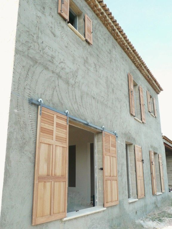 volets persiennes bois Bonnieux Para el hogar Pinterest Doors - pose de seuil de porte