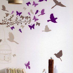 Plantillas para pintar pared 2 decorar tu casa es - Pintar facil paredes ...