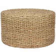 Horsetail Coffee Table Ottoman Table Wicker Coffee Table