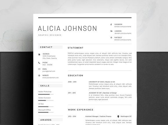 Word Resume  Cover Letter Template by Design Career Pro on