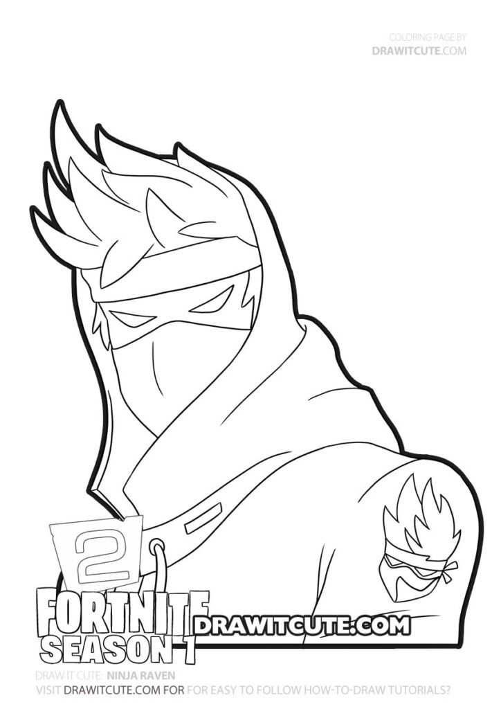 Ninja Raven Fortnite Chapter 2 Coloring Page Draw It Cute Superhero Coloring Skin Drawing Coloring Pages