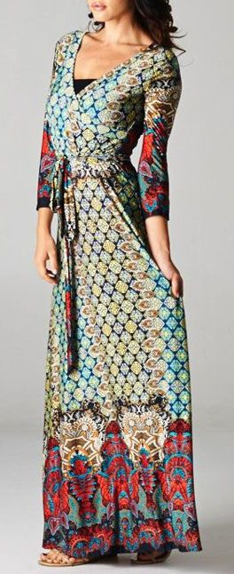 Boho Wrap Maxi Dress ♥ So excited to be getting this dress in tomorrow for the store! $44 plus shipping