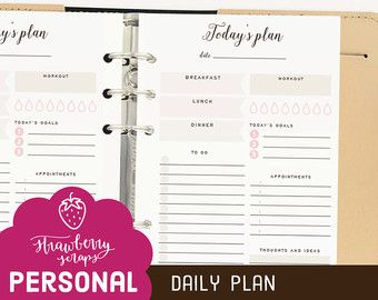 Daily Planner Printable  Personal Daily By Alibidesignstudio