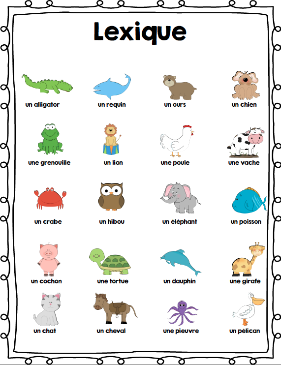 Ensemble D Activites Sur Les Animaux French Animals Activity Bundle Animal Activities French For Beginners Animal Books